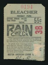 1923-1933 Boston Red Sox TICKET STUB *Fenway Park* -BOB QUINN (vs. Detroit)