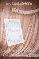7FTx7FT Sequin Photography Backdrop,Backdrop Wedding Decoration, Rose Gold