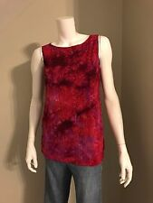 Women's White Stag Pink Ombré Sleeveless Blouse Size Small