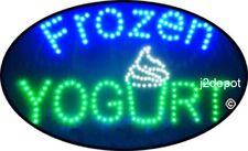 """US Seller Animated Frozen Yogurt Led Sign neon light. Video inside.  21""""x13-1/2"""""""