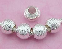 30pcs Silver Plated Tone Charm Beads For European Bracelet SY55