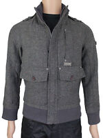 NEW Duck & Cover Mens Size XS S Zip Up Charcoal Jacket