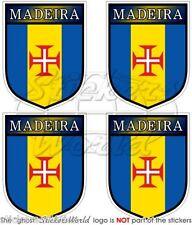 "MADEIRA Shield Portugal, Portuguese 50mm (2"") Bumper-Helmet Stickers-Decals x4"