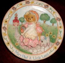 Cherished Teddies Nursery Rhymes Mary Had a Little Lamb Plate