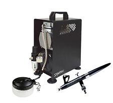 Professional Airbrushing Kit - ALplus 0.2mm Airbrush & Sparmax 610H Compressor