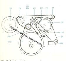 Riemen-Satz Telefunken Magnetophon M 203 204 205 250 241 242 441 Acusta Studio