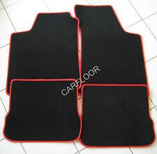 Für Chrysler 300 M  Fußmatten Velours Deluxe schwarz mit Kunstleder rot