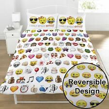 Emoji multi visage Smiley Set Housse de couette double - LITERIE NEUF