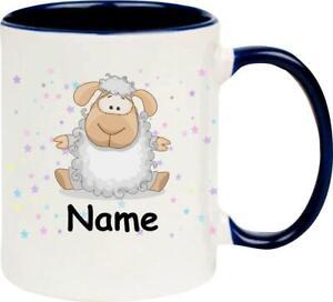 Kindertasse, Teetasse, Tasse, Schaf mit Wunschnamen, Wunschtext,