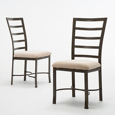 2PCS Upholstered Chairs Metal Frame Dining Chairs Cushion Comfortable Modern