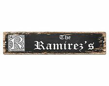 SP0479 The RAMIREZ'S Family name Plate Sign Bar Store Cafe Home Chic Decor Gift