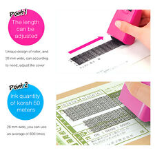 Mini Security ID Confidentiality Seal Roller Self Inking Stamp Messy Code Office
