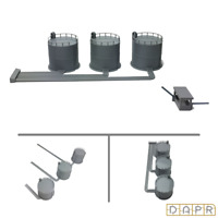 DAPR - N Gauge Model Railway Scenery Building Kit - Fuel Depot Silo Station