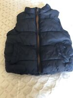 Padded navy gilet by Next size 18-24 months