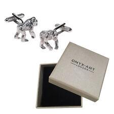 Mens Silver Gorilla Cufflinks & Gift Box Monkey Ape Chimp - By Onyx Art