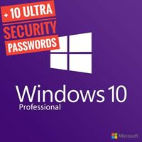 MICROSOFT WINDOWS 10 PRO PROFESSIONAL 32/ 64bit GENUINE LICENSA KEY PRODUCT CODE