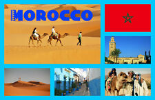 MOROCCO - SOUVENIR NOVELTY FRIDGE MAGNET - SIGHTS / TOWNS - GIFT - BRAND NEW