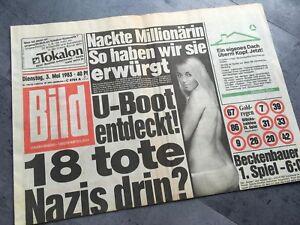 BILDzeitung 03.05.1983 Mai 3.5.1983 Geschenk 36. 37. 38. 39. 40. Geburtstag