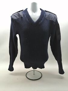 Ex Police Pull Over Jumper Navy Blue Pure New Wool Uniform Patrol Duty Security