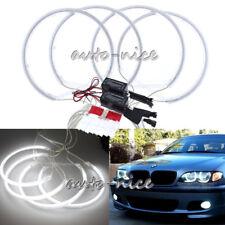 4 Pieces 131mm White CCFL LED Angel Eyes Halo Rings for BMW E36 E38 E39 E46 DRL