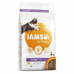 IAMS For Vitality Dry Kitten Food with Fresh Chicken Cat Feed 1-12 Months 800g
