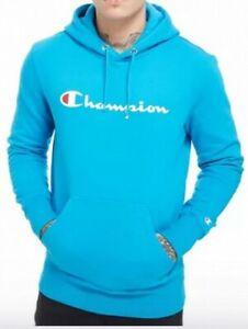 Champion Herren Hoodie Blau M Neu