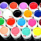 24Colors Solid Pure Glitter Mix Color Manicure Nail Art UV Gel Builder Decor Set