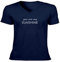You are My Sunshine Unisex Vneck Tee T-Shirt Mens Women Print Shirt Gift