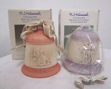 Vintage Goebel Hummel Christmas Bell Ornaments 1989 & 1992 in Box 1st Edition *
