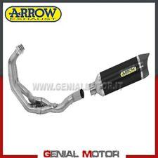 Komplett Auspuff Arrow Thunder AKN Aluminium Schwarz Yamaha Mt-09 2013 > 2020
