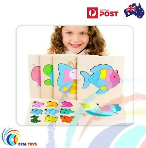 2020 Jigsaw Puzzle 3D Toys Educational Learning Toys For Baby Toddler Kids AAA