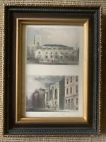 Antique Engraving Print St Olaves Tooley St St Siithins Ch And London Stone