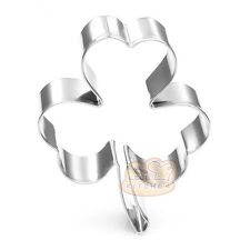 4 Pcs Packed Plants Clover Stainless Steel Cookie Dessert Cake Cutter DIY Mold