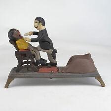 Vintage Crescent Dental Manufacturing Co painted cast iron figurativ bank works
