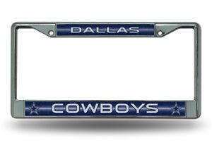 Dallas Cowboys BLING Metal Chrome License Plate Frame Auto Truck Car NWT
