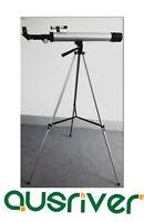 Silver Astronomical Telescope 50mm Aperture 50600 Christmas Gift For Children