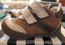 infant boys size 4 brown shoes velcro BNIB leather