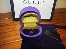 Authentic GUCCI 18k Yellow Gold Bamboo Spring RING