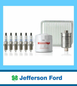Genuine Ford Falcon Ba 4.0L Petrol Service Kit Oil Air Fuel Filter + Spark Plugs