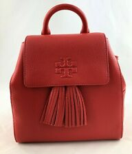 New Authentic Tory Burch Thea Mini Leather Backpack Purse Brilliant Red