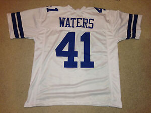 UNSIGNED CUSTOM Sewn Stitched Charlie Waters White Jersey - Extra Large