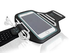 "Universal Smartphones 5.5"" Black Lycra Armband Sports Reflective Headphone Tie"