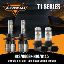 AUXBEAM H13 9008 LED Canbus Headlight+H10 9145 Fog Bulbs for 04-2014 Ford F-150