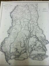 "Beaufort  District Map of South Carolina (Robert Mills 1820) ~24"" x 29"""