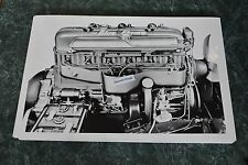 "Chevrolet ""Blue Flame"" Engine for 1953 Corvette 12X18 Black & White Picture"
