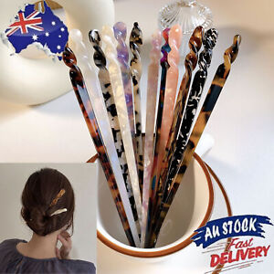 Chinese Style Hair Sticks Vintage Acetate Chopstick Women Hairpins Accessories