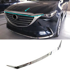 fits Mazda CX-9 2016 17 18 2019 ABS Chrome Front Hood Grille Cover Trim Garnish