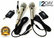 2X Microfonos Inalambricos Portable Con 2 En 1 Microfono Para Karaoke Y Fiestas