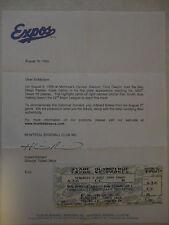 Tony Gwynn 3000th Hit Unused Game Ticket with COA & 8x10 Photo Padres vs Expos