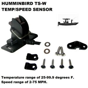 HUMMINBIRD TS-W TEMP/SPEED SENSOR: Speed range of 2-75 MPH